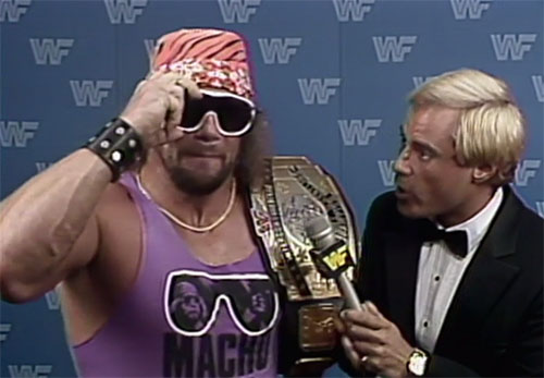 Macho Man and Ken Resnick